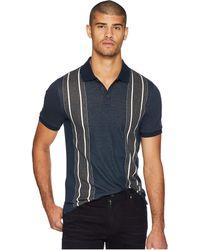Original Penguin - Short Sleeve Vertical Stripe Polo (dark Sapphire) Men's Clothing - Lyst