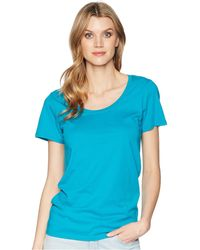 Pendleton - Short Sleeve Pima Tee (hibiscus) Women's Clothing - Lyst
