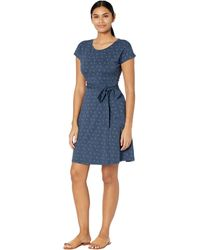 Toad&Co Cue Wrap Short Sleeve Dress - Blue
