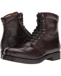 Frye - Carter Lace-up (dark Brown Veg Tan Horse) Men's Lace-up Boots - Lyst