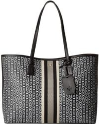 Tory Burch Gemini Link Canvas Small Tote