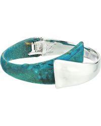 Robert Lee Morris - Silver And Patina Bypass Hinge Bangle Bracelet (patina) Bracelet - Lyst