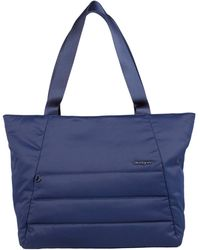 Hedgren Kyela 3 Compartment Puffer Tote - Blue