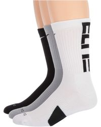 Nike Elite Crew Basketball Socks 3-pair Pack - Black