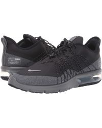 7b5c5172b76 Nike - Air Max Sequent 4 Shield (black metallic Silver dark Grey)