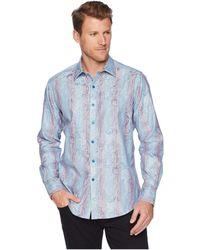 Robert Graham - Patel Long Sleeve Woven Shirt (teal) Men's Clothing - Lyst