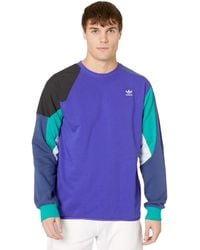 adidas Originals Logo-embroidered Sweatshirt Purple