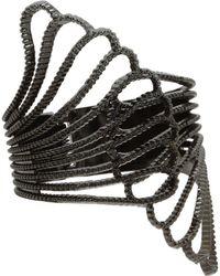 Guess - Fan Hinge Cuff (gold) Bracelet - Lyst