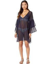 ff7337eb44828 MICHAEL Michael Kors - Urban Gypsy Ruffle Sleeve Cover-up (black) Women s  Swimwear