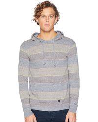 Vissla - Blockhead Long Sleeve Hoodie (dark Denim) Men's Clothing - Lyst