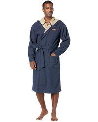 L.L. Bean Bonded Waffle Lined Robe Regular - Blue