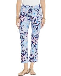 Lilly Pulitzer Kelly High-rise Crop Flare Pants - Blue
