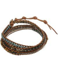Chan Luu - 33 Wrap Bracelet (matte Picasso Jasper Mix) Bracelet - Lyst