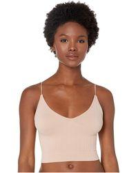 Free People Ribbed V-neck Brami Clothing - Pink