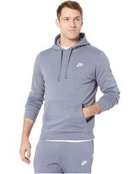 d0b0a554a4be Nike - Club Fleece Pullover Hoodie (dark Grey Heather dark Grey Heather  white