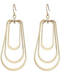 French Connection - Orbital Earrings (rose Gold) Earring - Lyst