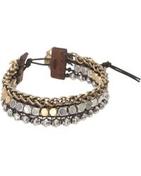 Lucky Brand - Royal Jewels Mixed Two-tone Faux Wrap Bracelet - Lyst
