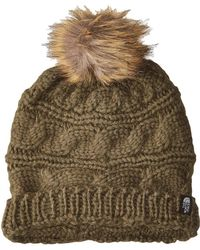 ae094b3c516 The North Face - Triple Cable Fur Pom (vintage White mid Grey) Beanies