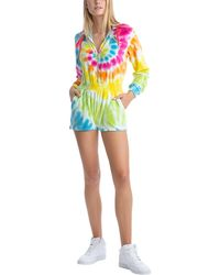 Juicy Couture Romper With Hoodie - Multicolor