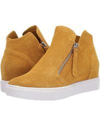 Steve Madden Caliber Wedge Sneaker - Yellow
