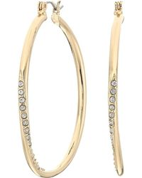Guess - Hoop With Stones Earring (gold) Earring - Lyst