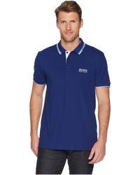 BOSS Green - Paddy Pro 10143643 01 (blue) Men's Short Sleeve Knit - Lyst