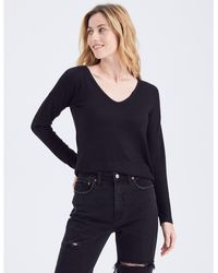 Abercrombie & Fitch Long-sleeve V-neck Tee - Black