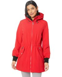 44219ed695f Calvin Klein - Anorak Functional Stretch Softshell (red Apple) Women s Coat  - Lyst