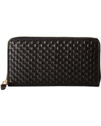Cole Haan - Zoe Woven Continental (black) Handbags - Lyst