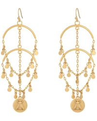 Vince Camuto - Earrings With Mini Coins And Bee Charm (matte Gold) Earring - Lyst
