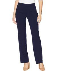 Lauren by Ralph Lauren - Wool-blend Straight-leg Pants (navy) Women's Casual Pants - Lyst