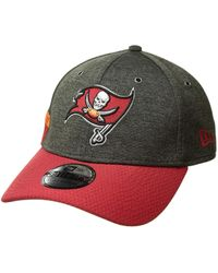 KTZ - 39thirty Official Sideline Home Stretch Fit - Tampa Bay Buccaneers  (grey red 7b12b90c5