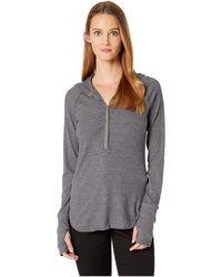 Three Dots - Chunky Heather Rib Hoodie (heather Marengo) Women's Sweatshirt - Lyst