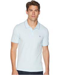 Original Penguin - Short Sleeve Space Dye Tip Polo (omphalodes) Men's T Shirt - Lyst