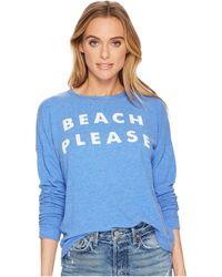 The Original Retro Brand Beach Please Super Soft Haacci Pullover - Blue
