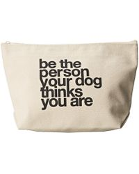 Dogeared - Be The Person Your Dog Thinks You Are Lil' Zip (canvas) Handbags - Lyst