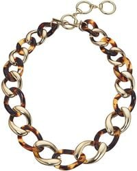 Lauren by Ralph Lauren 18 Chain Link Collar Necklace - Brown