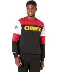 Mitchell & Ness Nfl Perfect Season Crew Fleece Chiefs - Black