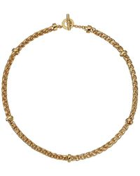 "Lauren by Ralph Lauren - Back To Basics Ii 18"" Braided Gold Chain Necklace - Lyst"
