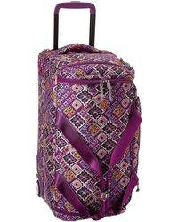 Vera Bradley - Lighten Up Foldable Rolling Duffel, Polyester - Lyst 6db84dea21
