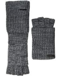AllSaints Twisted Half Cardigan Gloves - Gray