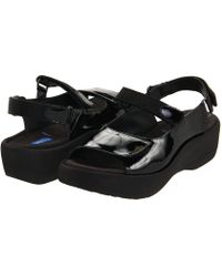 Wolky - Jewel (black Patent Leather) Women's Hook And Loop Shoes - Lyst