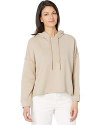 Eileen Fisher Organic Cotton French Terry Cropped Hoodie Clothing - Natural