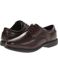 Nunn Bush - Bourbon Street Moc Toe Oxford With Kore Slip Resistant Walking Comfort Technology (brown) Men's Lace Up Moc Toe Shoes - Lyst