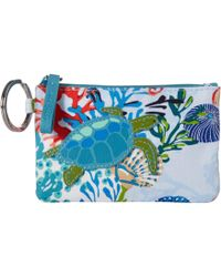 3d7e1729b547 Vera Bradley - Iconic Zip Id Case (stitched Flowers) Wallet - Lyst