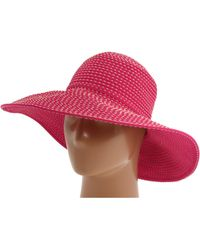 San Diego Hat Company - Rbl205 Ribbon Crusher Hat With Ticking Sun Hat - Lyst