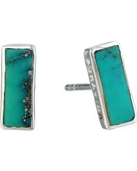 Pura Vida Bar Earrings - Green
