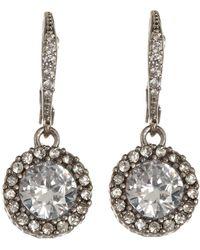 Betsey Johnson - Cz Drop Earrings (crystal) Earring - Lyst