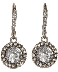 Betsey Johnson - Cz Drop Earrings - Lyst