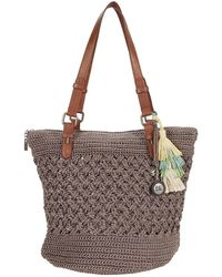 The Sak Silverwood Crochet Shopper - Gray